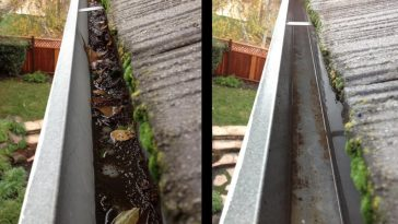 gutter cleaning pepping