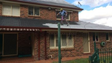 cement tile roof painting Sydney
